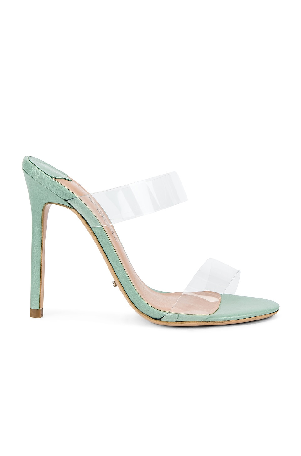Tony Bianco Kade Mule in Clear Vynalite & Mint