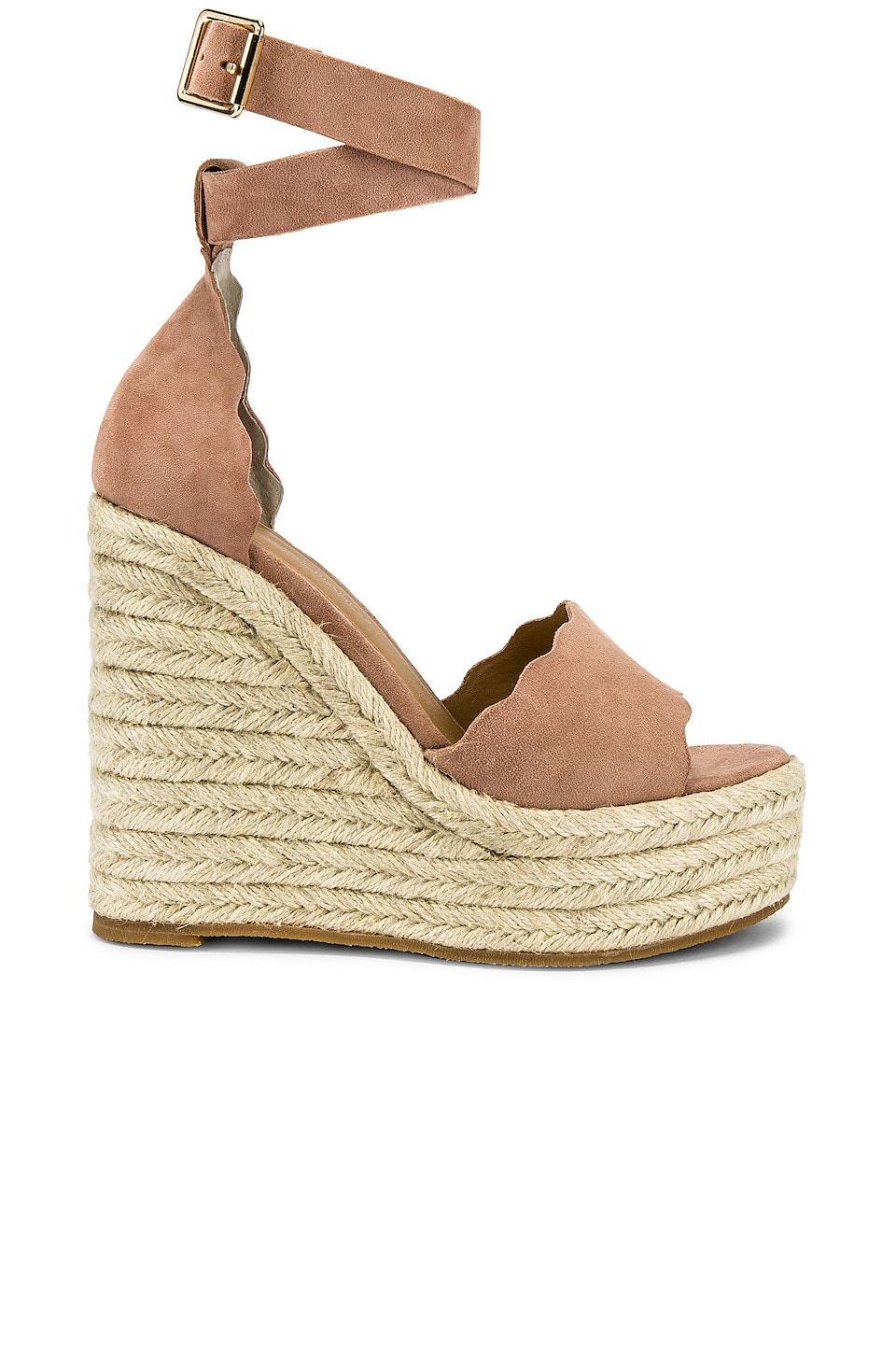 Tony Bianco Brandi Wedge in Blush Kid Suede