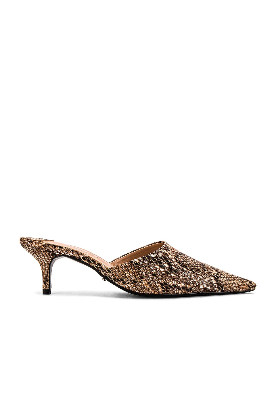 Tony Bianco North Mule in Brown Multi Snake