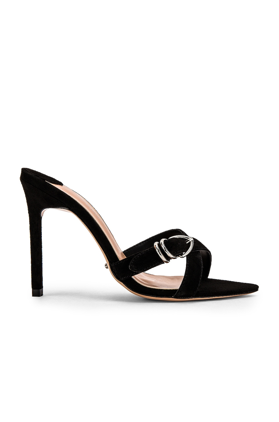 Tony Bianco Mikki Heel in Black Kid Suede