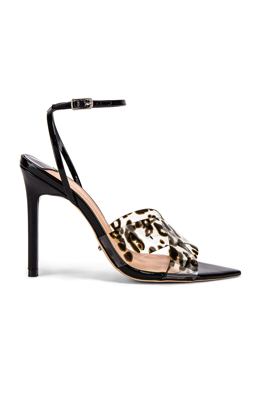 Tony Bianco Meeka Heel in Leopard Vynalite & Black Patent