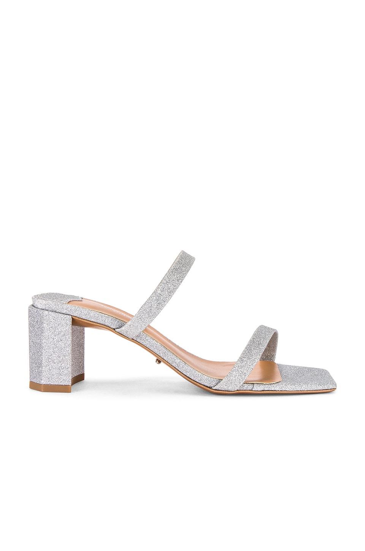 Tony Bianco Savana Heel in Silver Glitter
