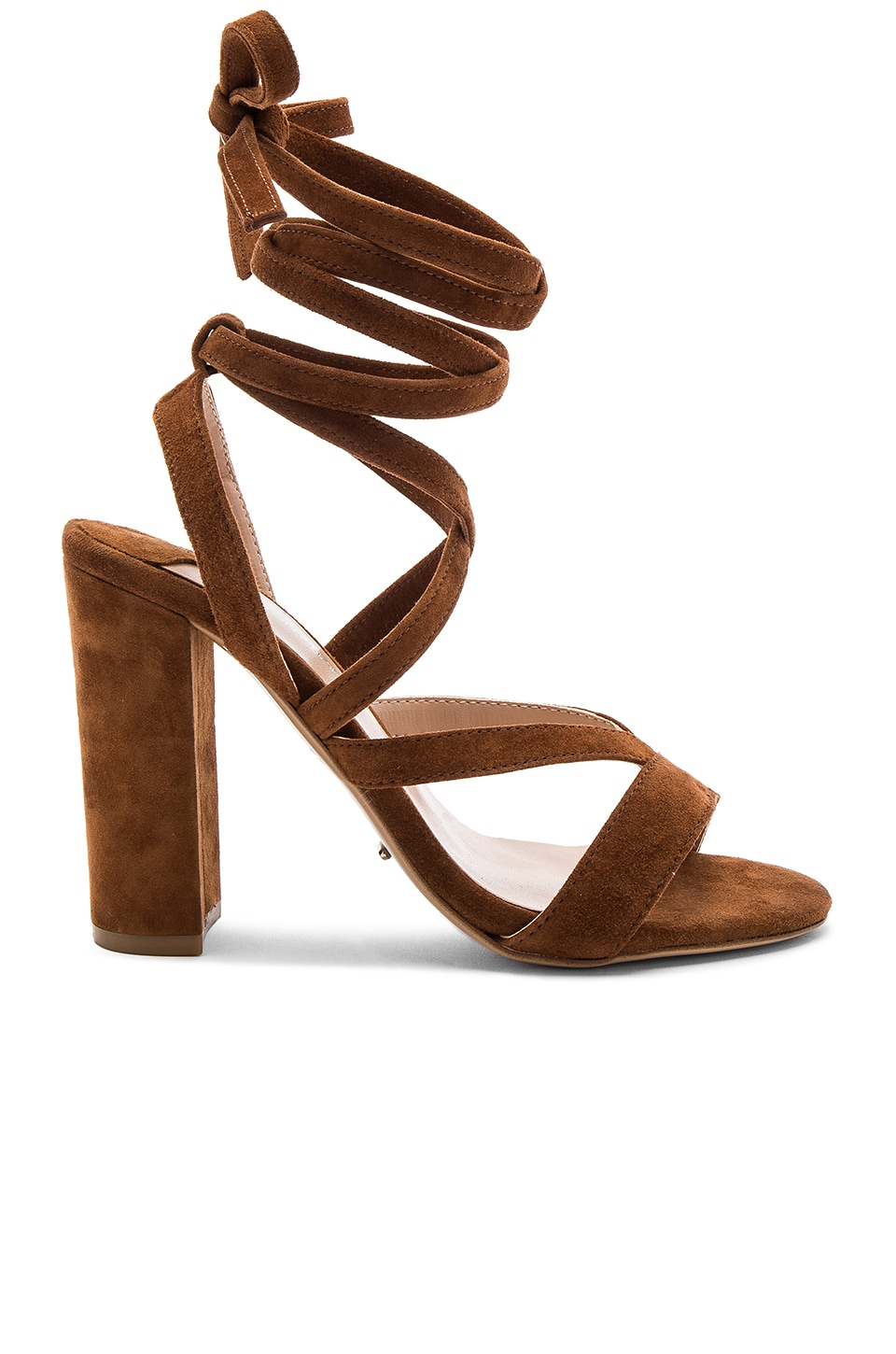 Tony Bianco Kappa Heel in Malt Kid Suede