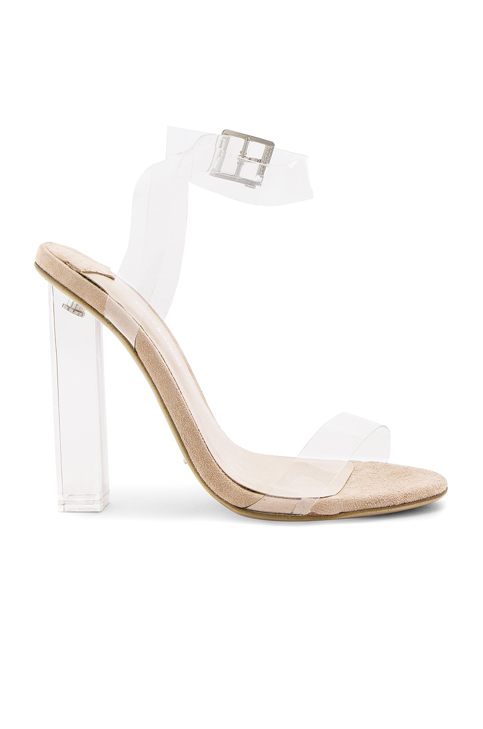 Tony Bianco Kiki Heel in Clear Vynalite & Blush