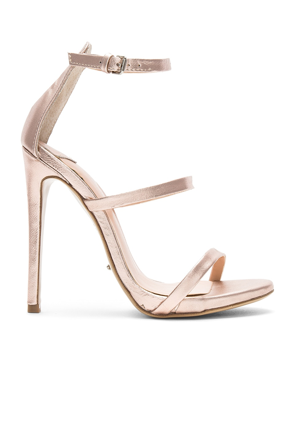 Tony Bianco Atkins Heel in Rose Gold Matt Metallic
