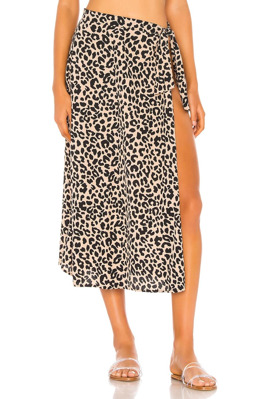 Tori Praver Swimwear Kayla Cover Up Skirt in Leopard