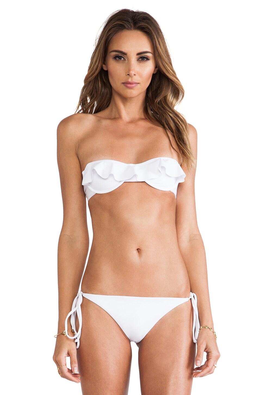 Tori Praver Swimwear Cabazon Bikini Top in White