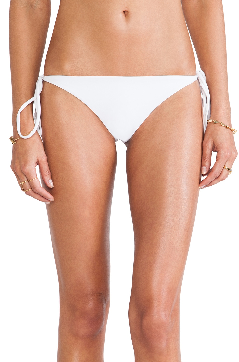 Tori Praver Swimwear Sage Bikini Bottom in White