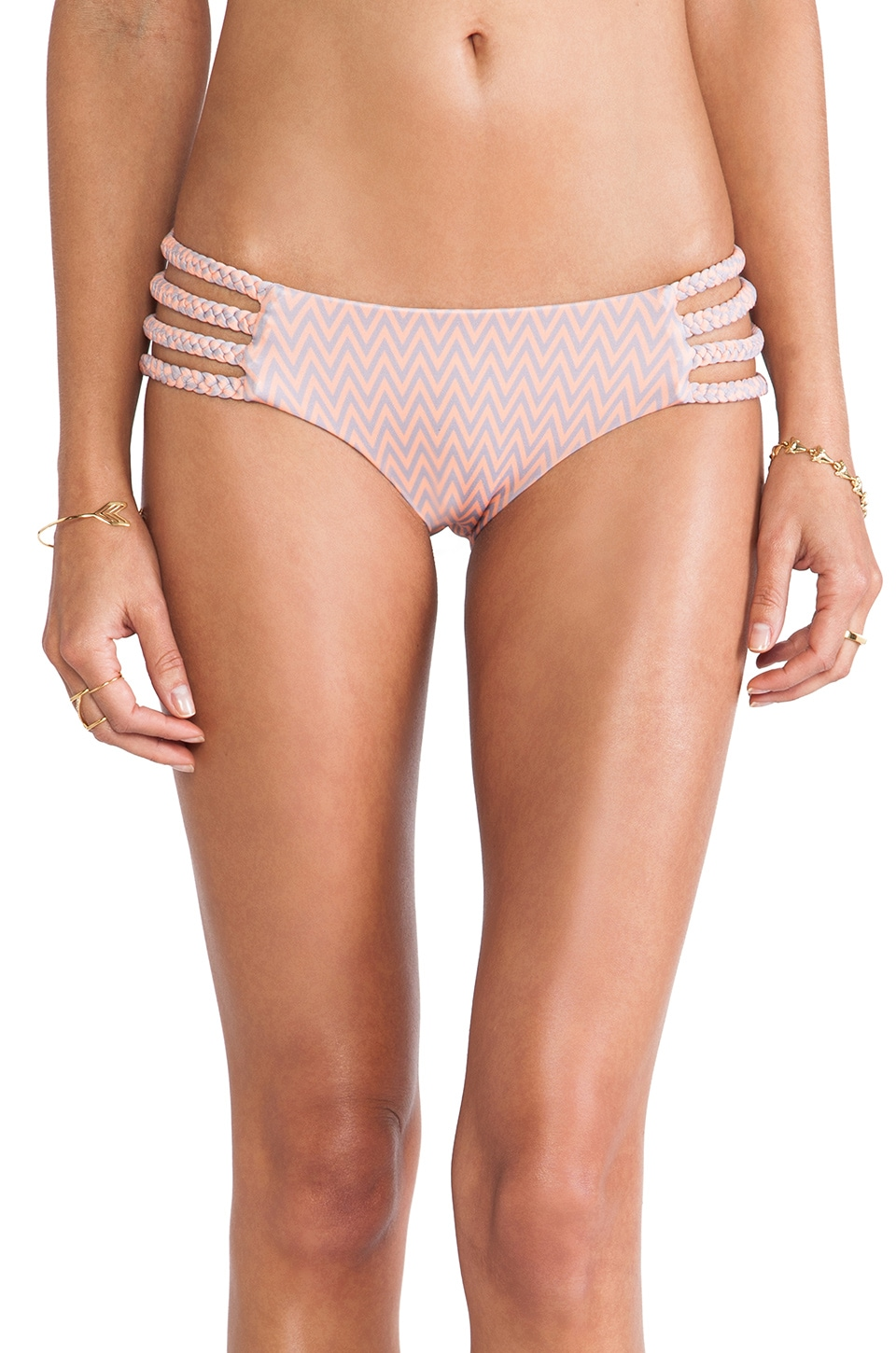 Tori Praver Swimwear Shyla Bottom in Venice Sherbert