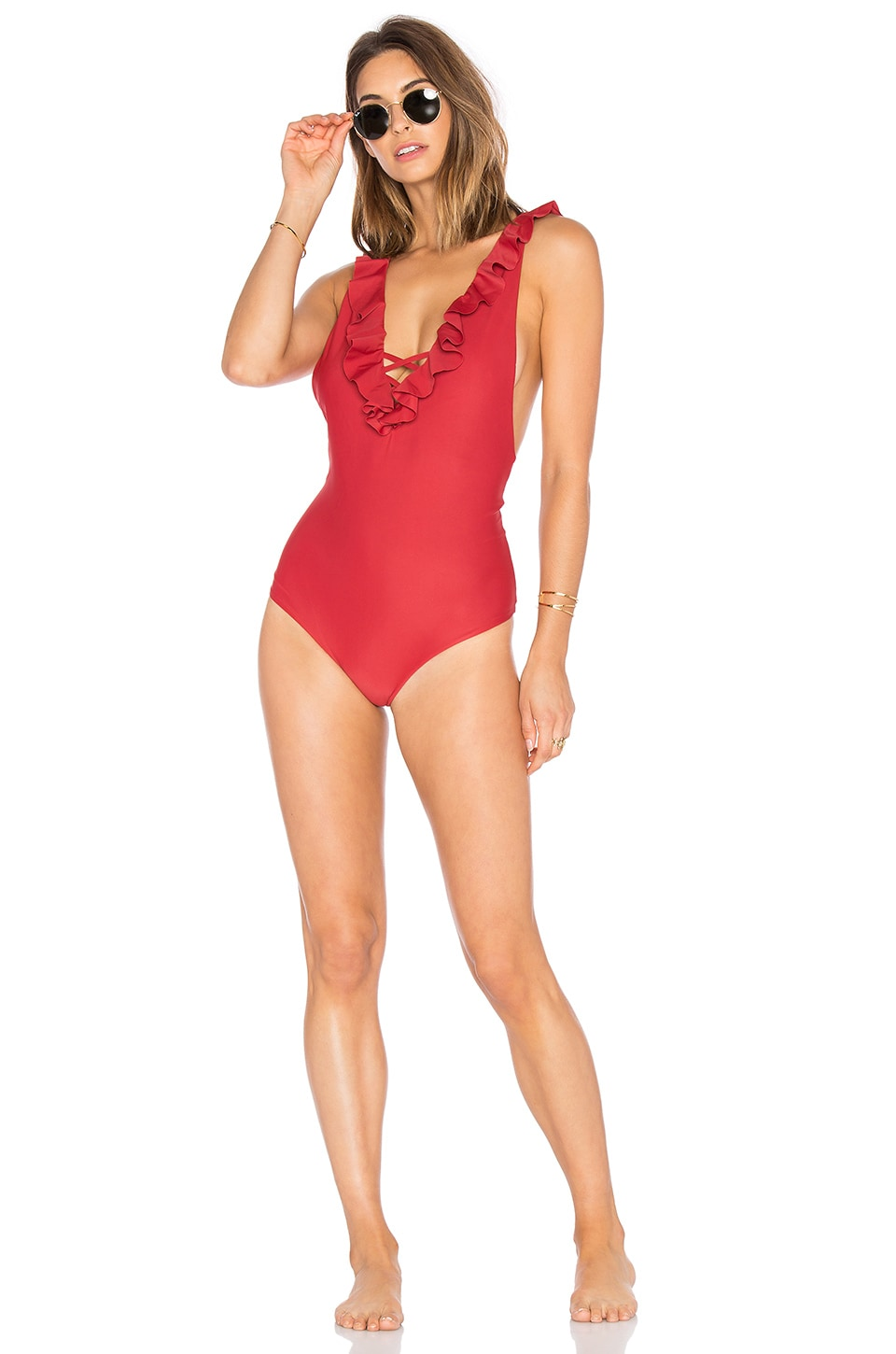 Tori Praver Swimwear Victoria One Piece in Chilli Pepper