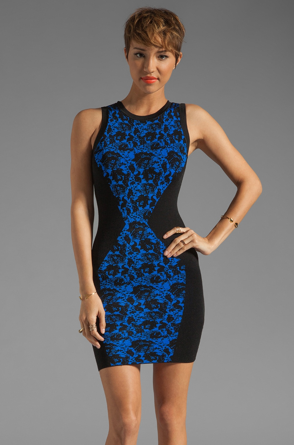 Torn by Ronny Kobo Bailey Dress in Blue