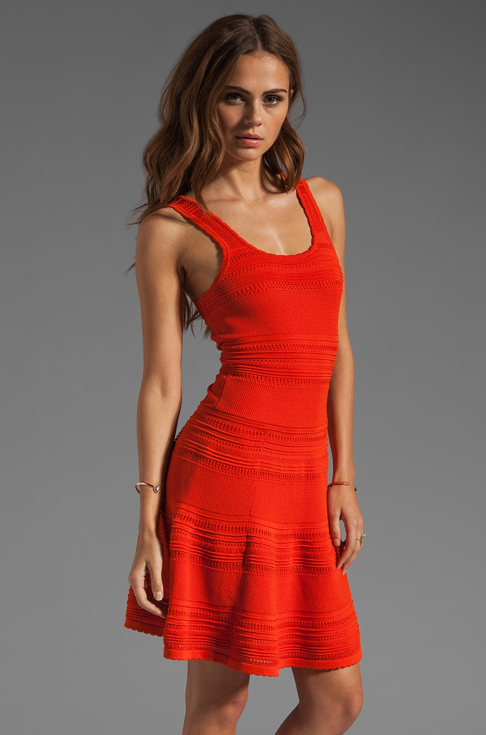 Torn by Ronny Kobo Alberta Dress in Orange
