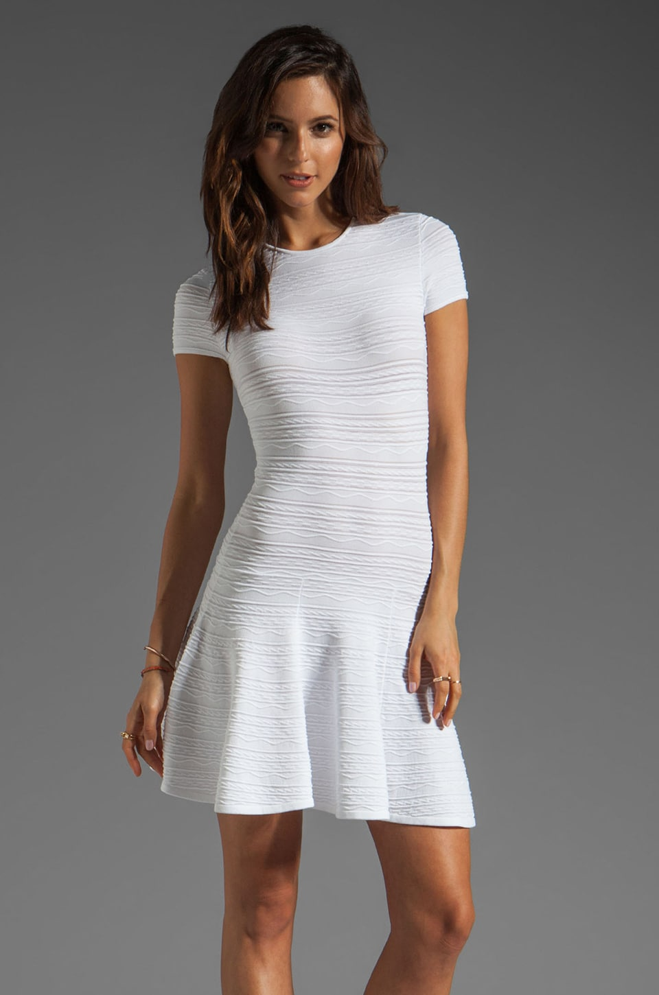 Torn by Ronny Kobo Vivienne Dress in White