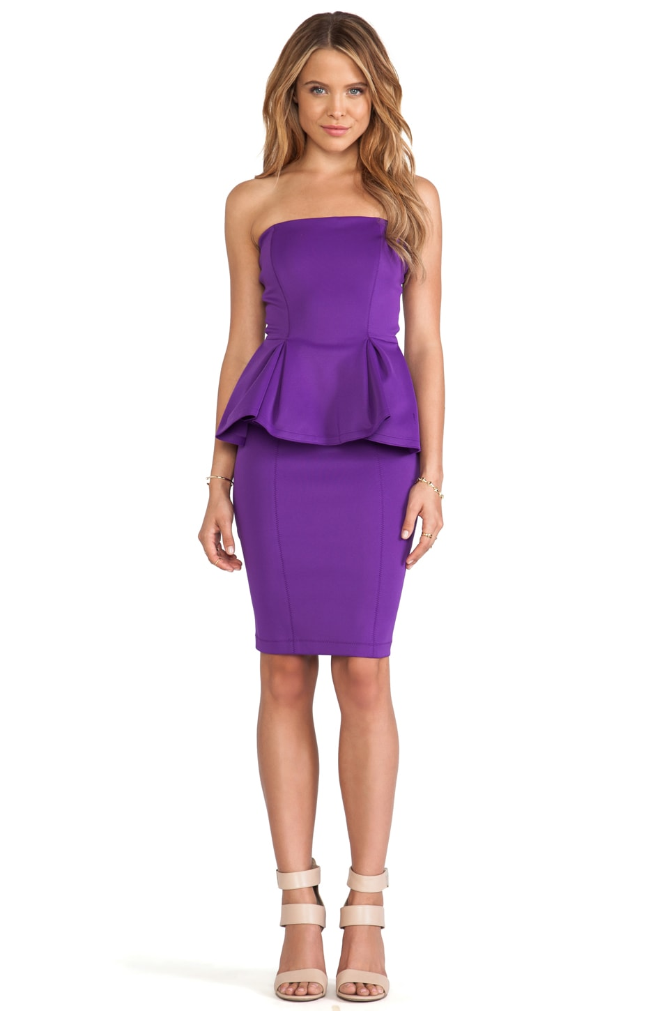 Torn by Ronny Kobo Camille Scuba Dress in Purple