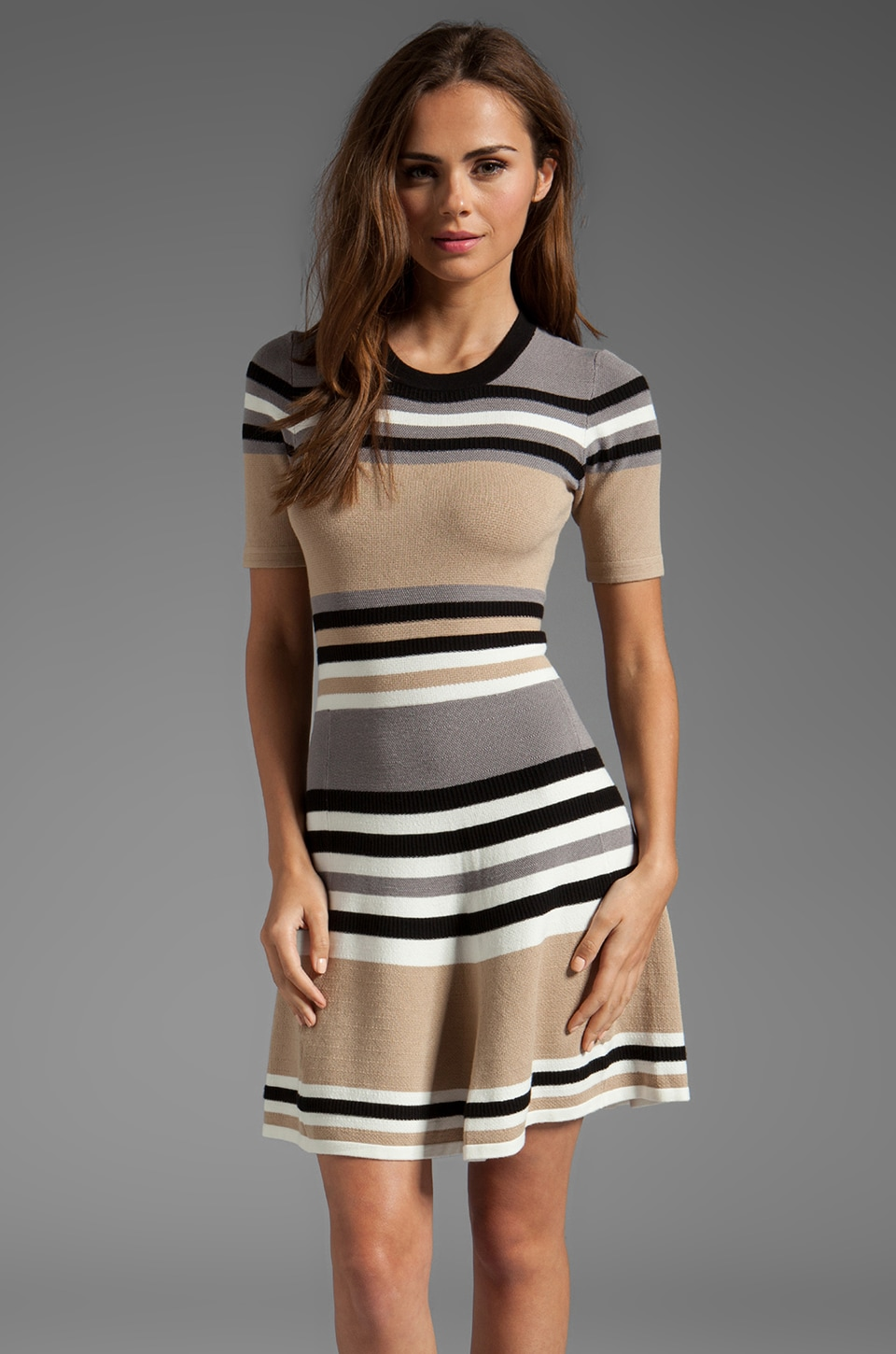 Torn by Ronny Kobo Melody Dress in Alternate Stripes