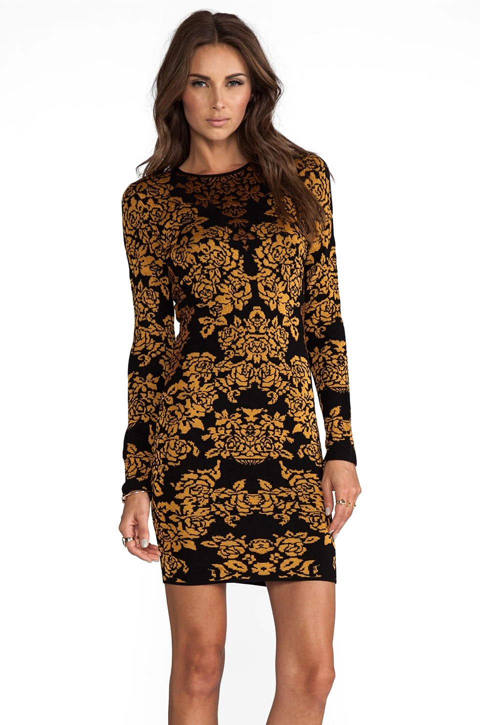 Torn by Ronny Kobo Mammie Dress in Gold Combo