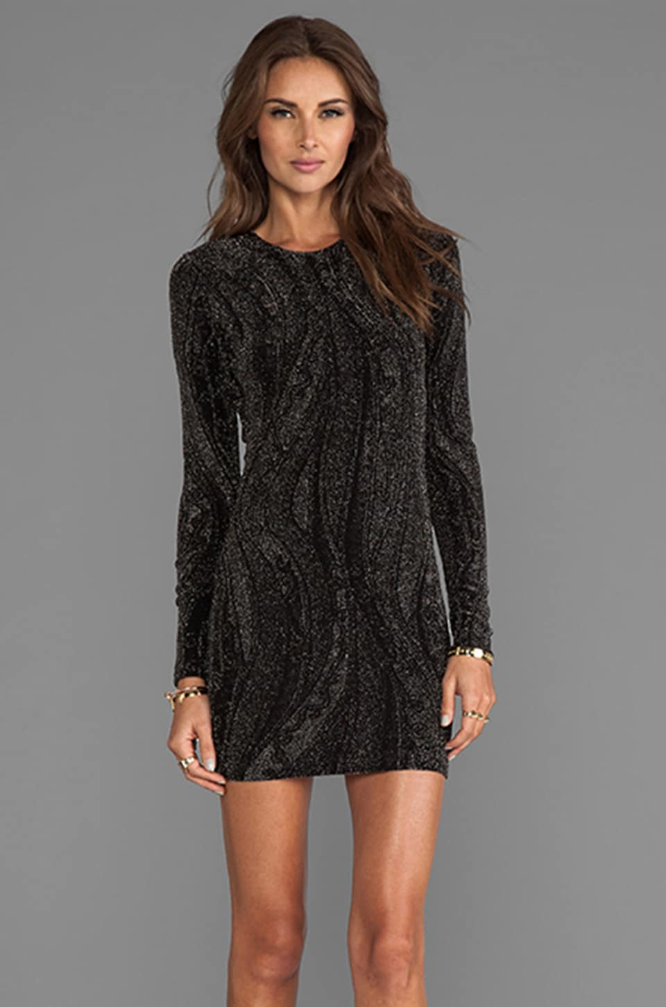 Torn by Ronny Kobo Zoe Dress in Black/Silver
