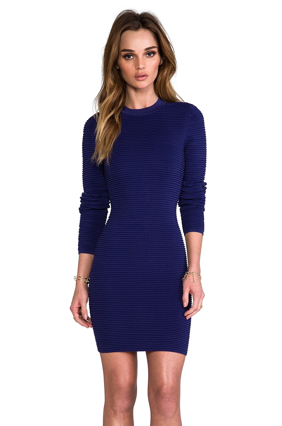 Torn by Ronny Kobo Malena Dress in Navy/Black
