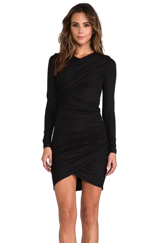 Torn by Ronny Kobo Emma Long Sleeve Dress in Black