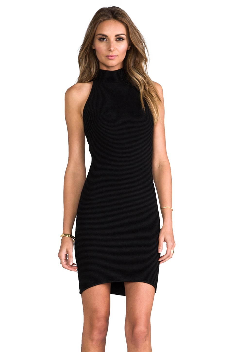 Torn by Ronny Kobo Karen Dress in Black