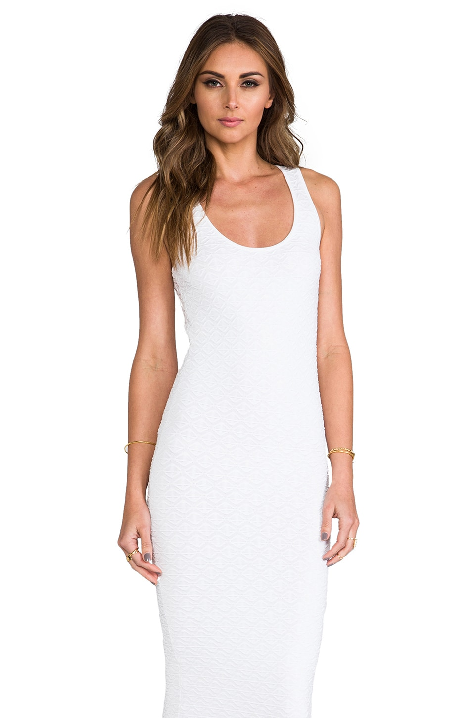 Torn by Ronny Kobo Maggie Dress in White