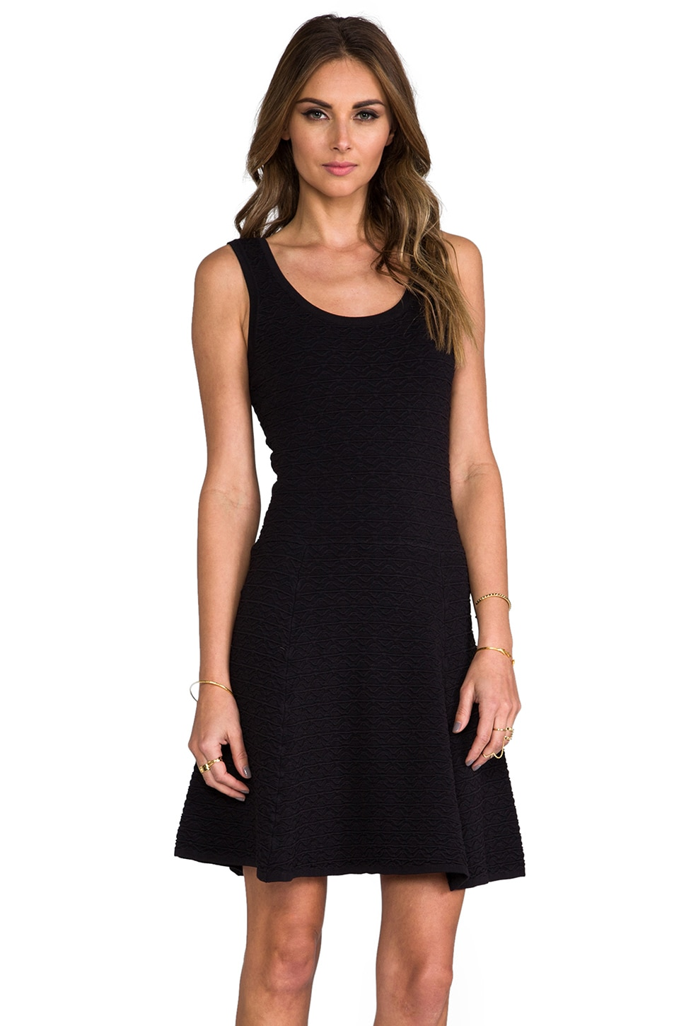 Torn by Ronny Kobo Vivienne Luciana Dress in Black