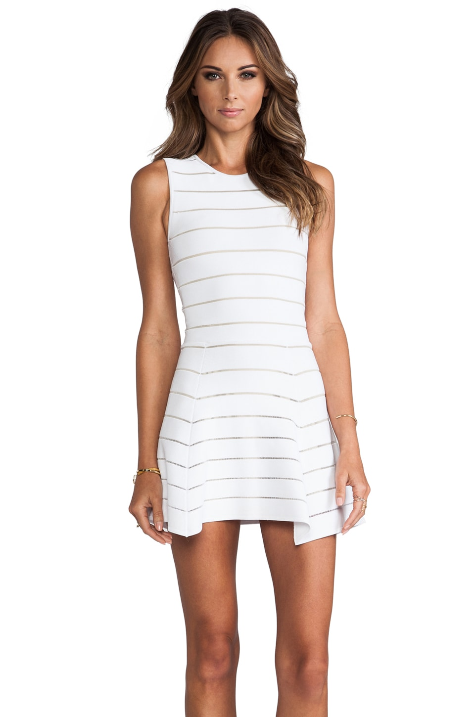 Torn by Ronny Kobo Audrey Dress in White