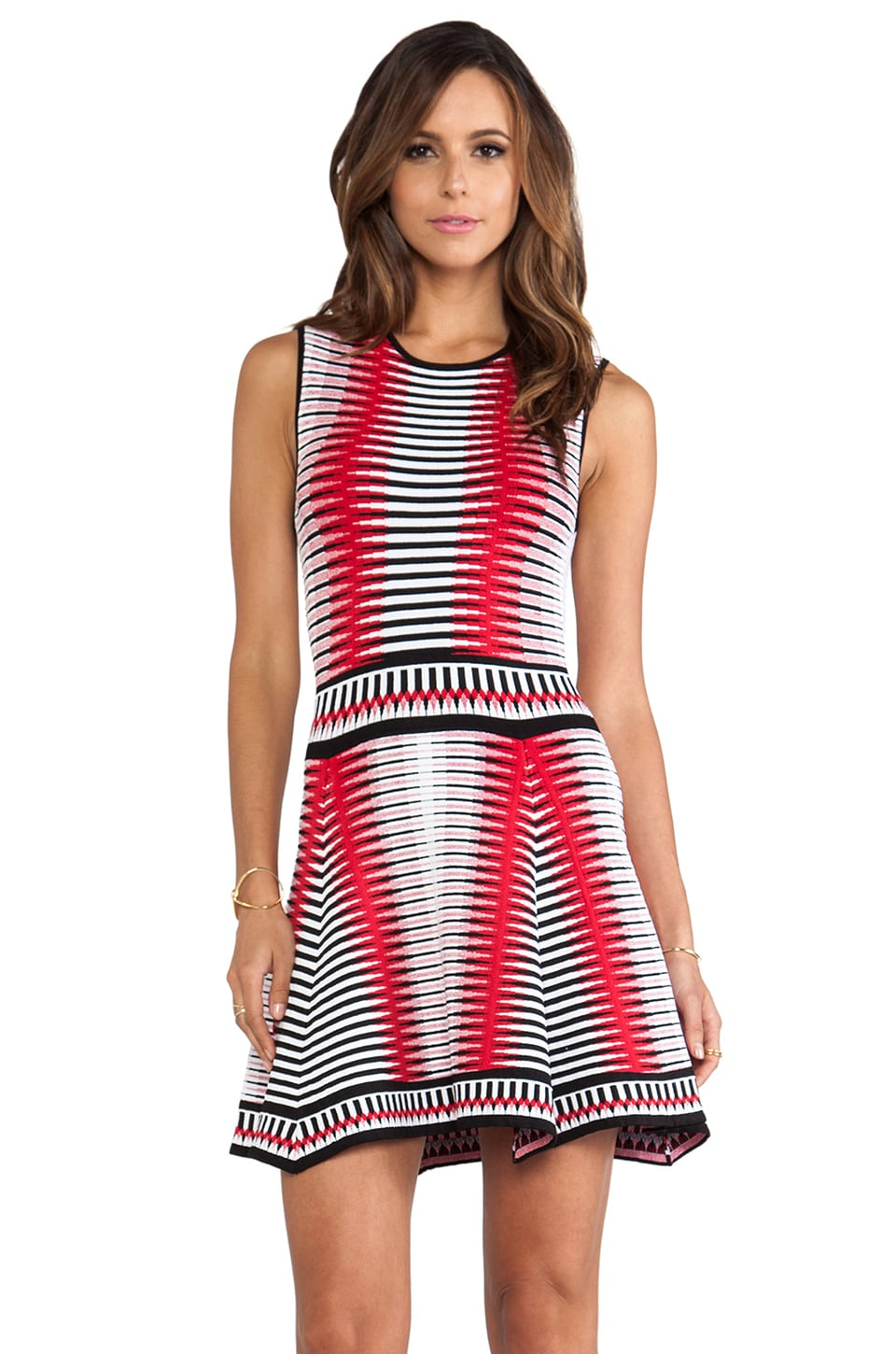 Torn by Ronny Kobo Malu Dress in Red Multi