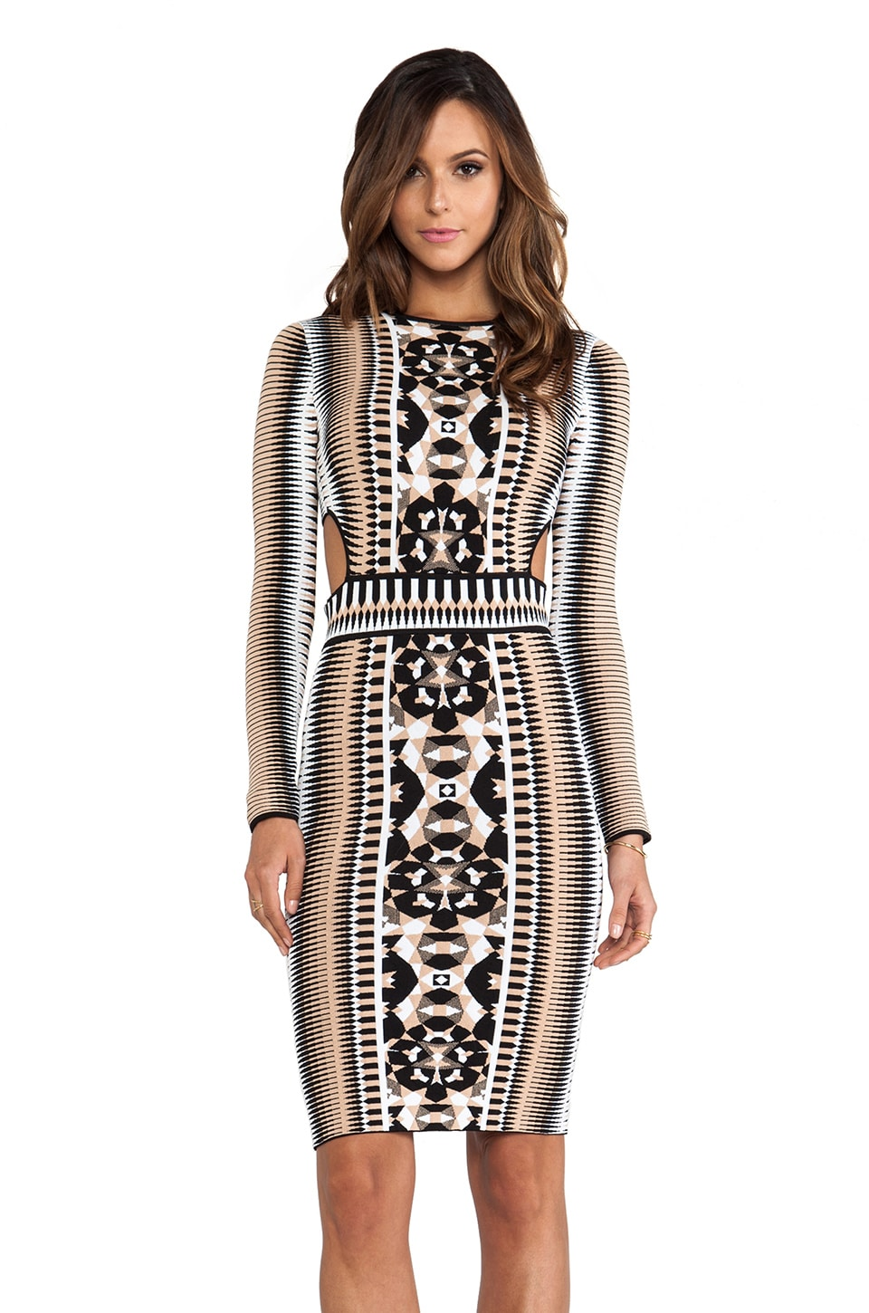 Torn by Ronny Kobo Shuli Dress in Neutral Multi