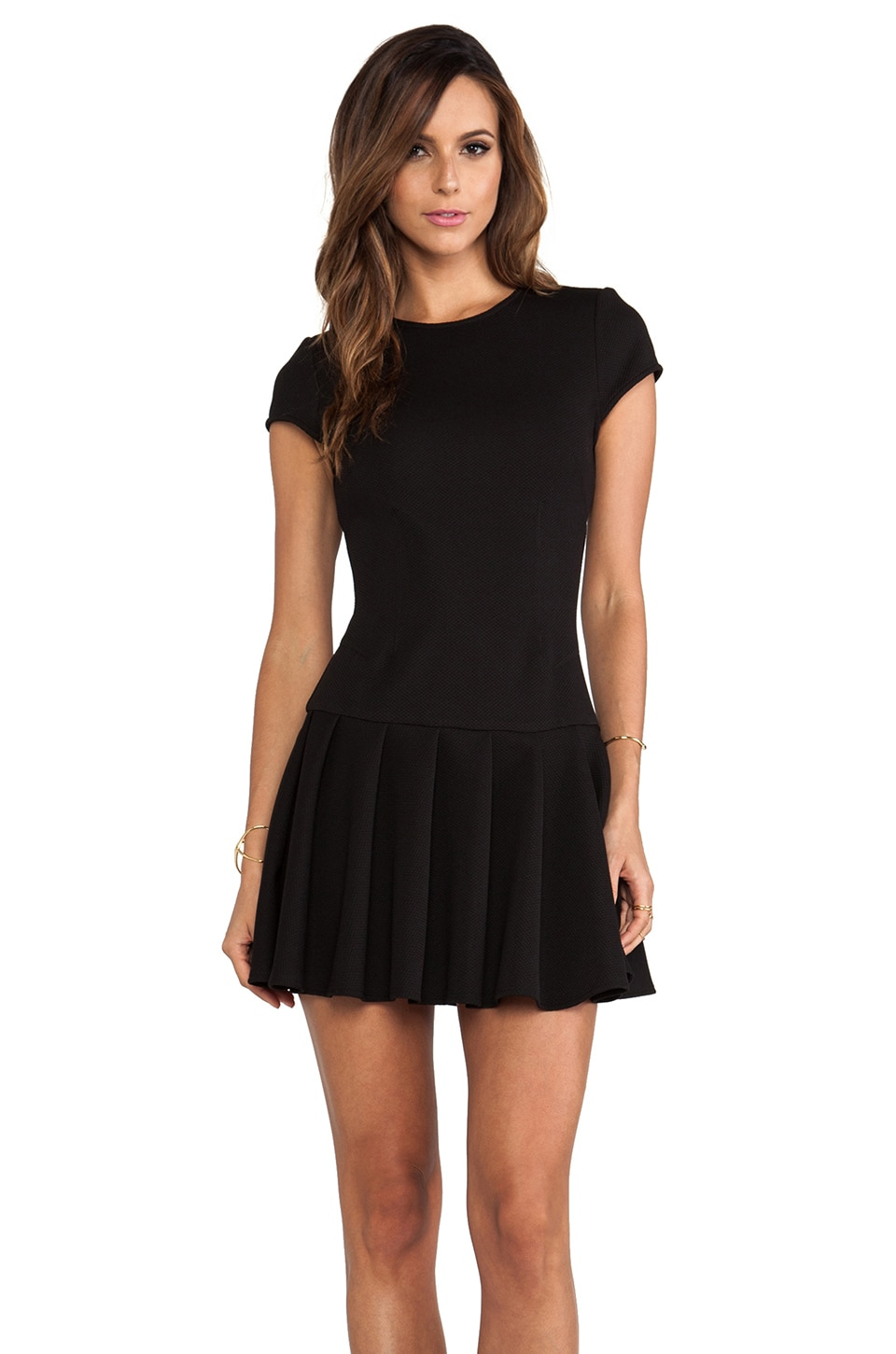 Torn by Ronny Kobo Gina Short Sleeve Dress in Black