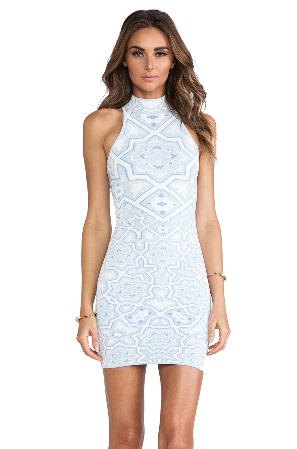 Torn by Ronny Kobo Corina Dress in Blue Combo