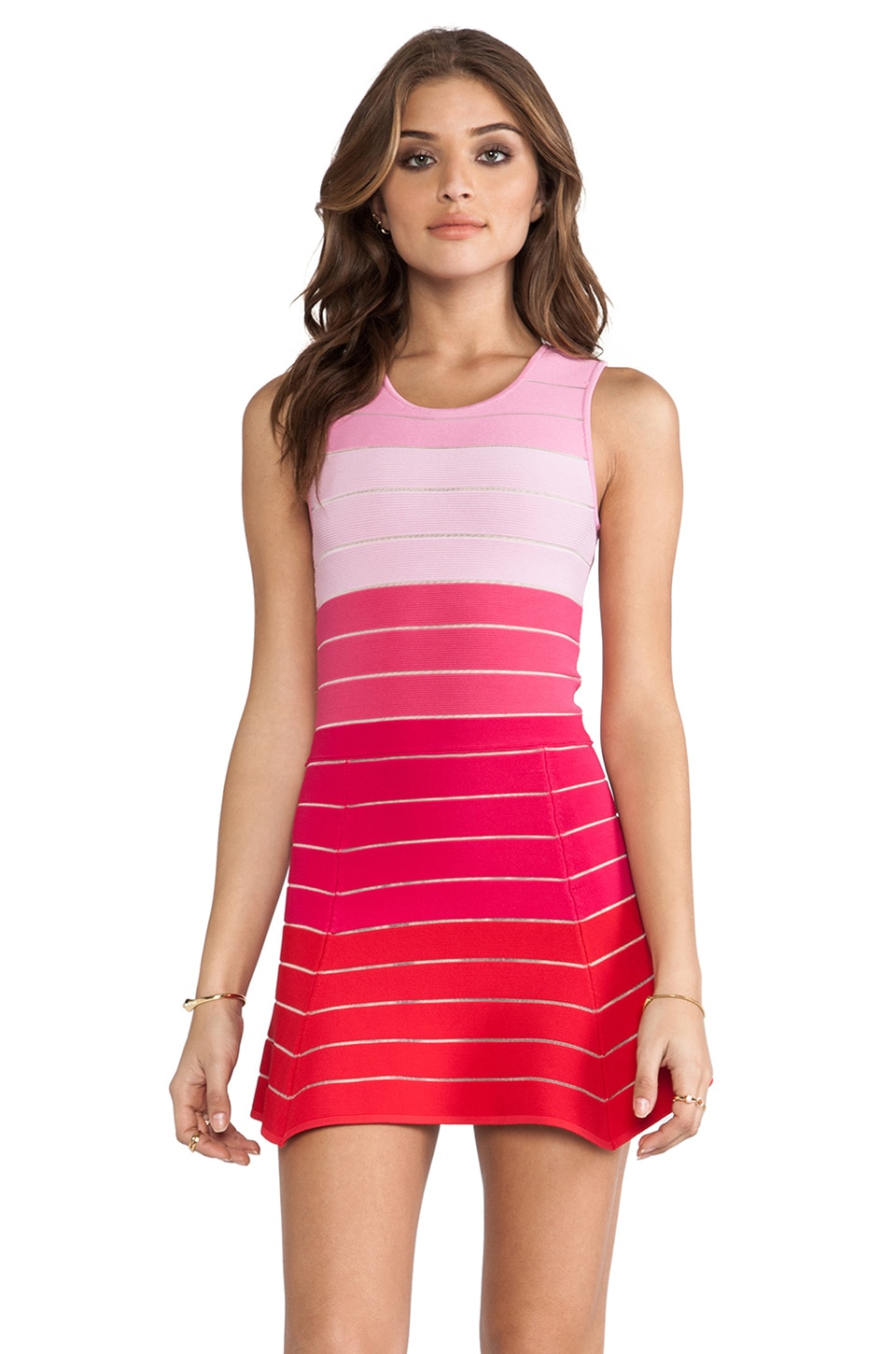 Torn by Ronny Kobo Audrey Dress in Multi Pink