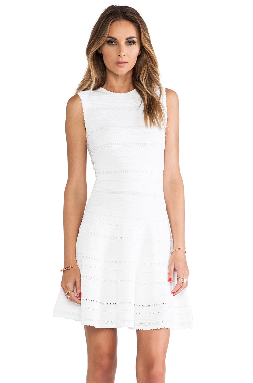 Torn by Ronny Kobo Isadora Dress in White
