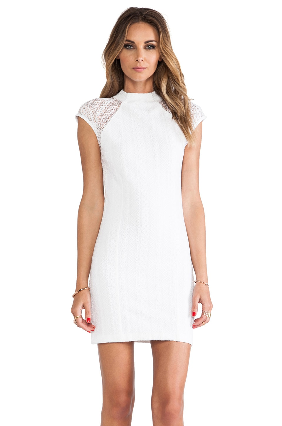 Torn by Ronny Kobo Rosalind Dress in White