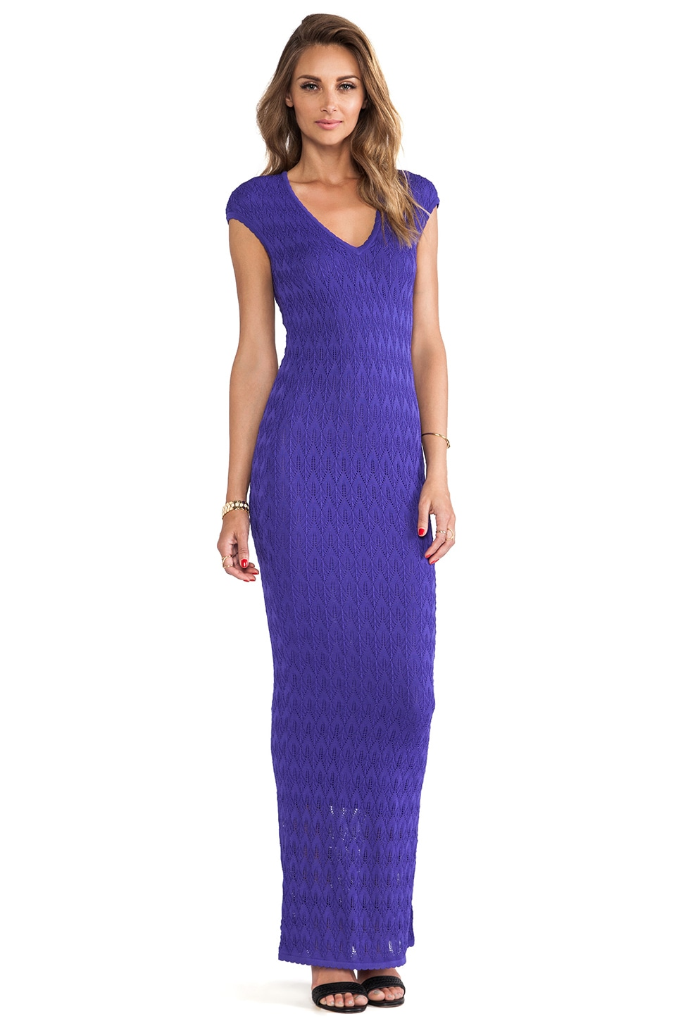 Torn by Ronny Kobo Ramona Long Dress in Purple