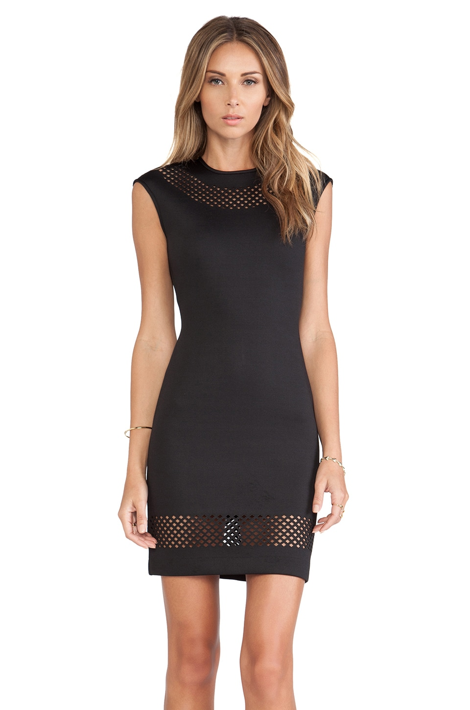 Torn by Ronny Kobo Morgan Dress in Black