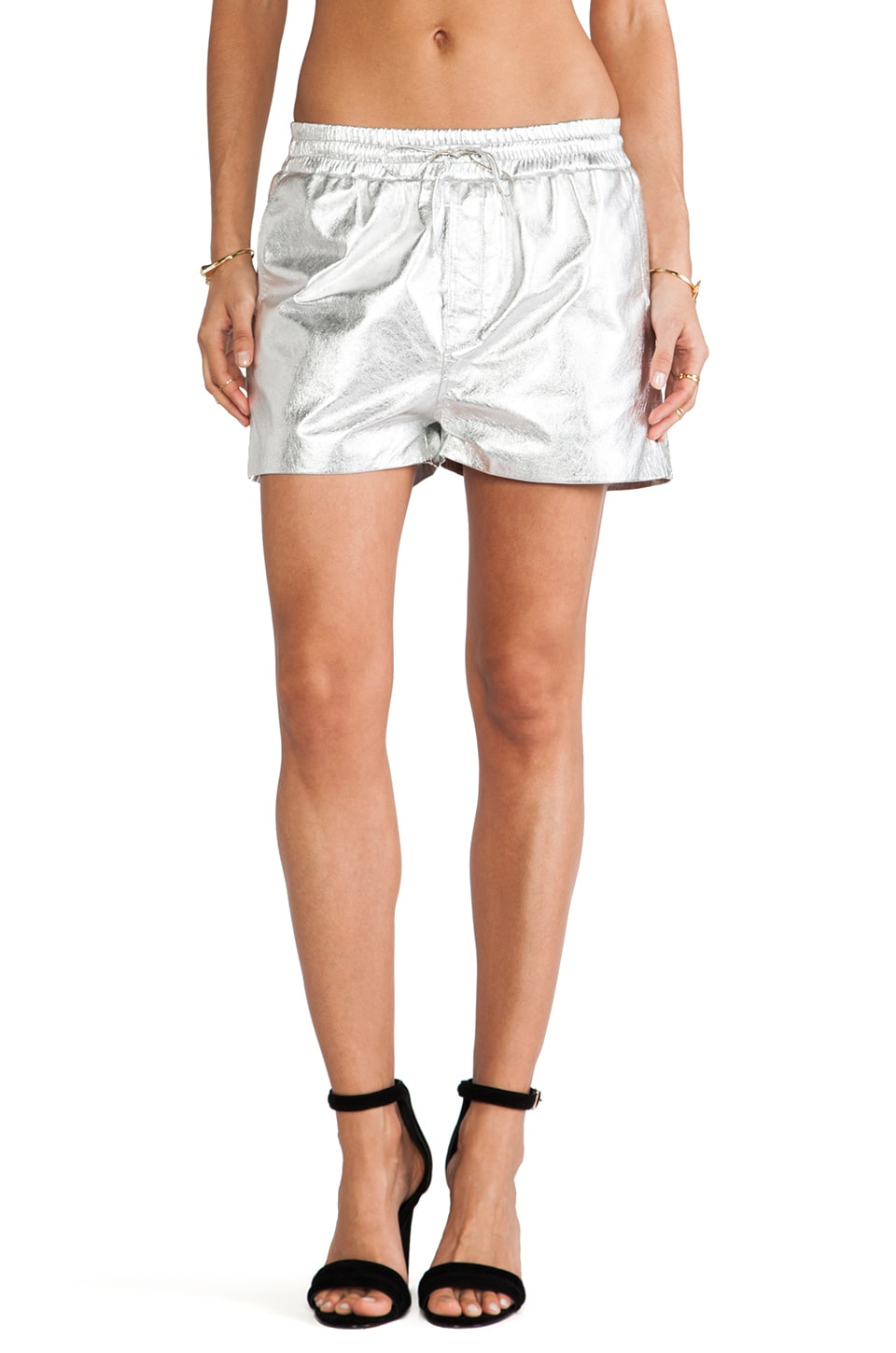 Torn by Ronny Kobo Jonah Shorts in Silver