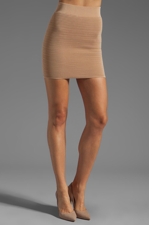 Torn by Ronny Kobo Celine Ottoman Skirt in Beige