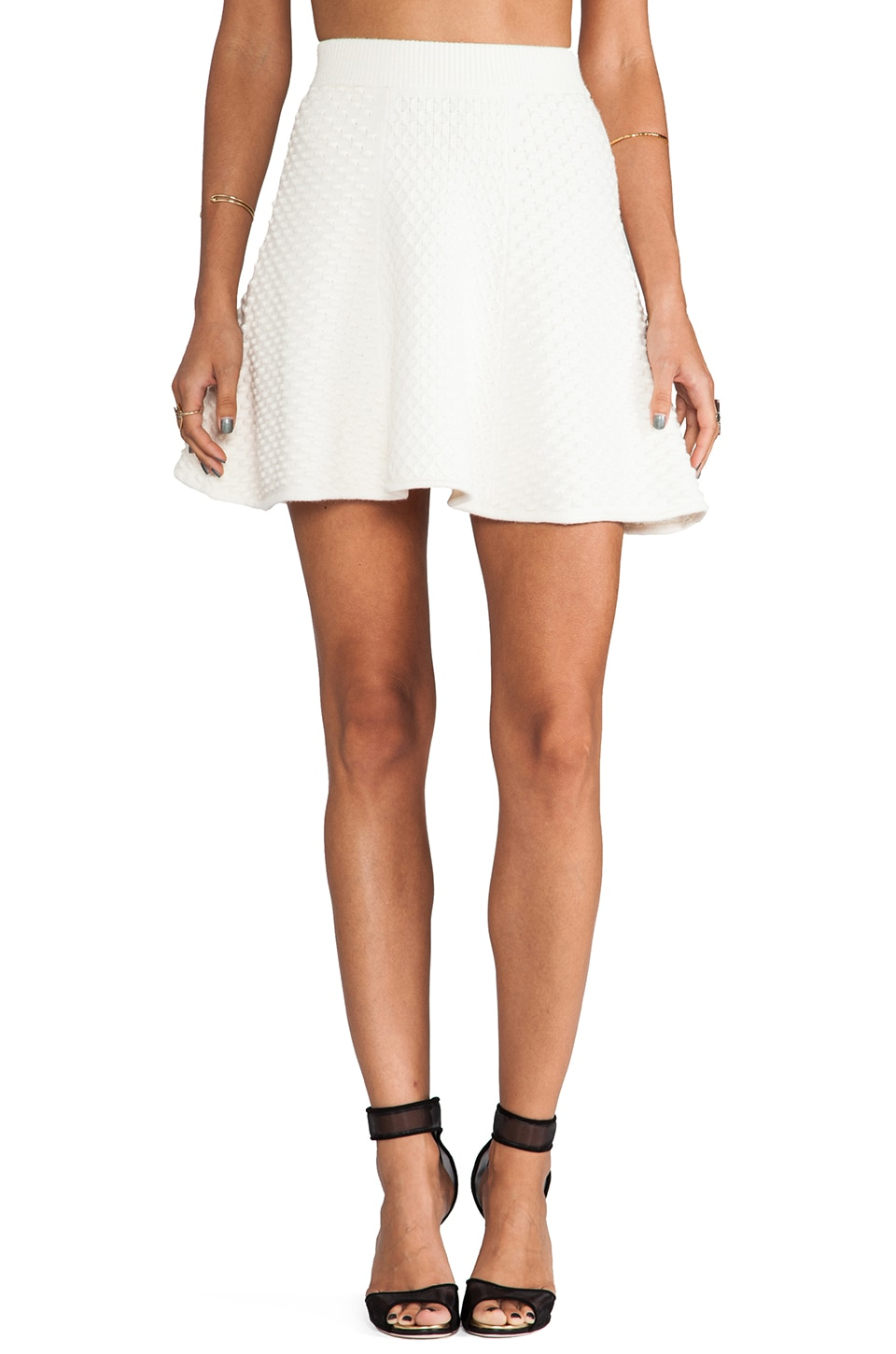 Torn by Ronny Kobo Anabella Skirt in Ivory