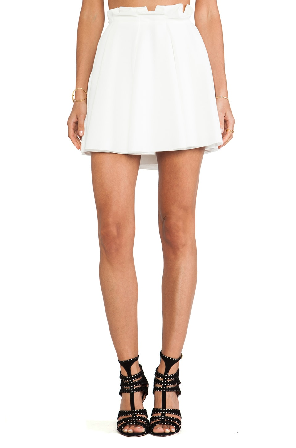 Torn by Ronny Kobo Odelia Skirt in White