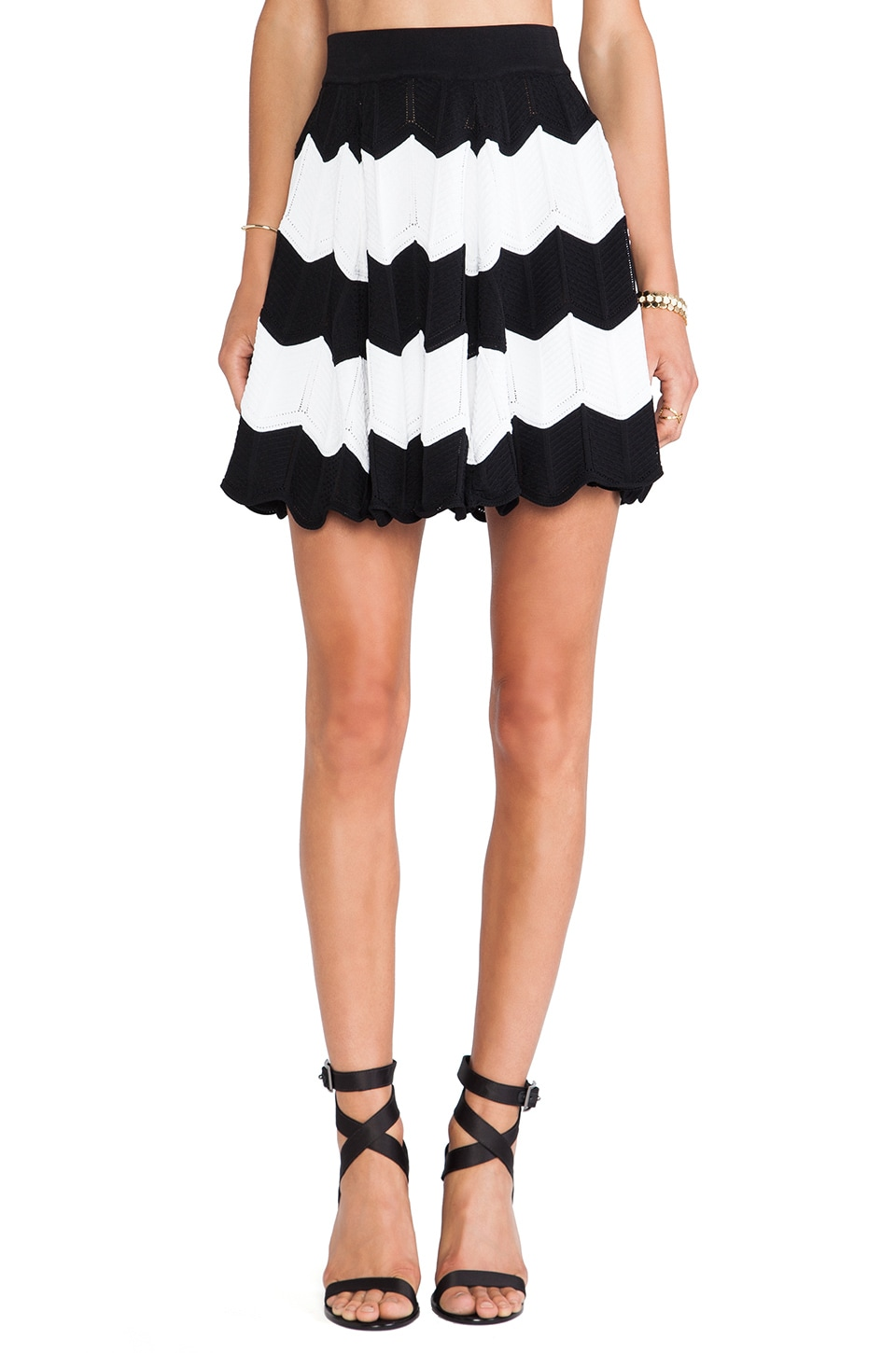 Torn by Ronny Kobo Anabella Skirt in Black & White