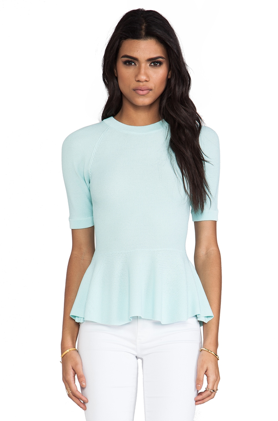 Torn by Ronny Kobo Lala Top in Light Blue