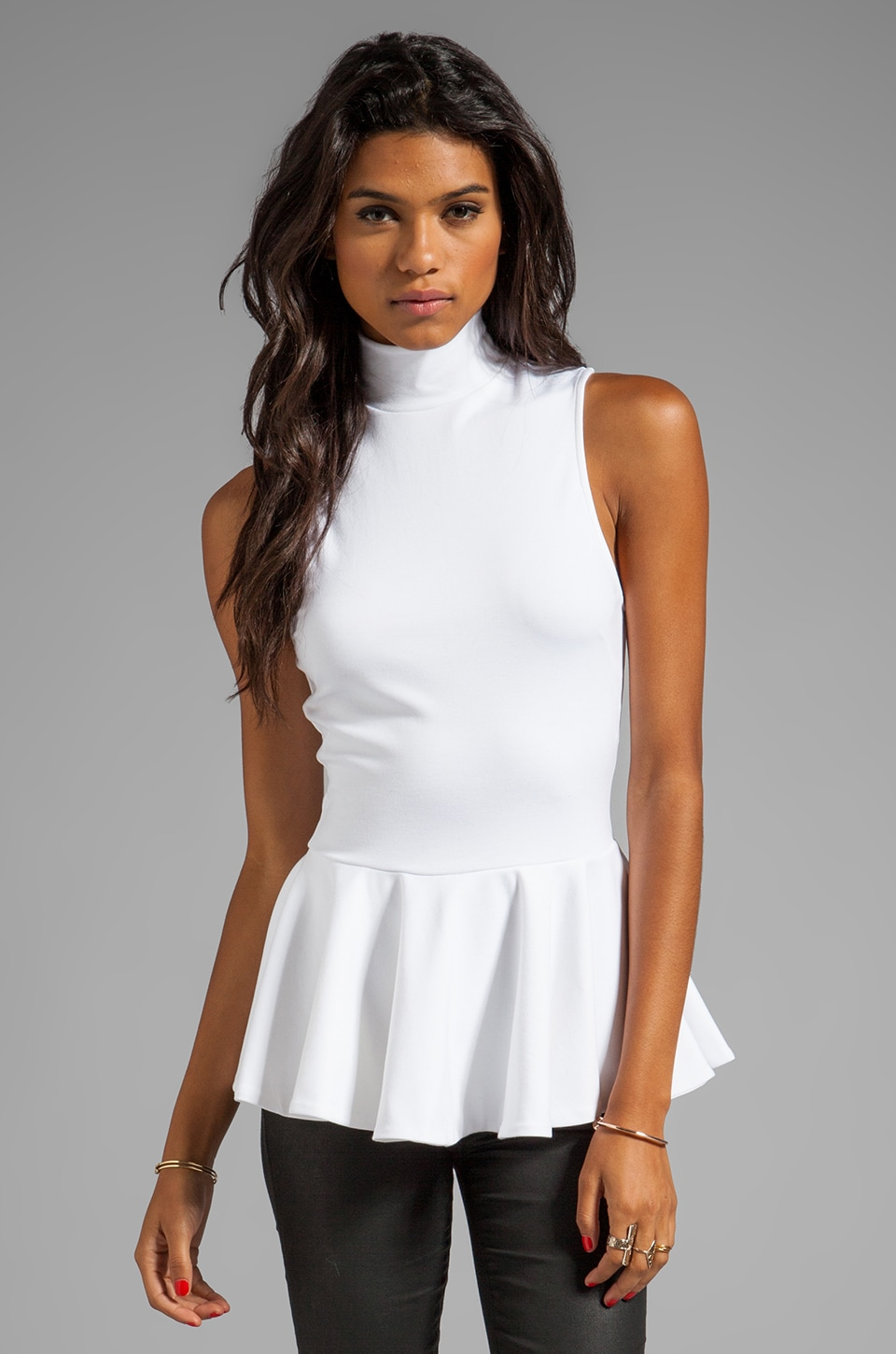 Torn by Ronny Kobo Heidi Ponti Top in White