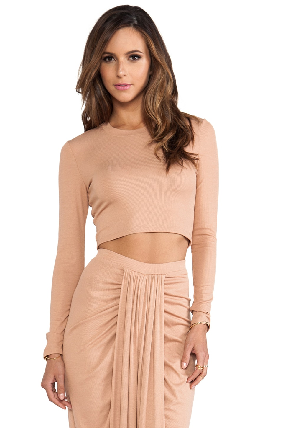 Torn by Ronny Kobo Oli Crop Top in Macaroon