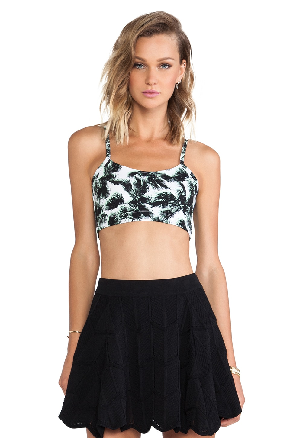 Torn by Ronny Kobo Adira Top in Multi Green