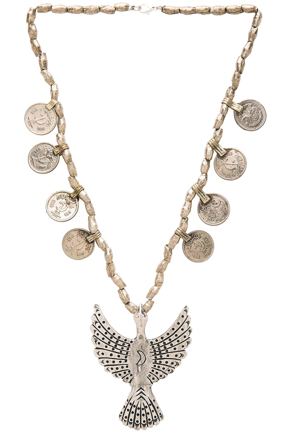 TORCHLIGHT Alulquoy Statement Necklace in Silver Ox