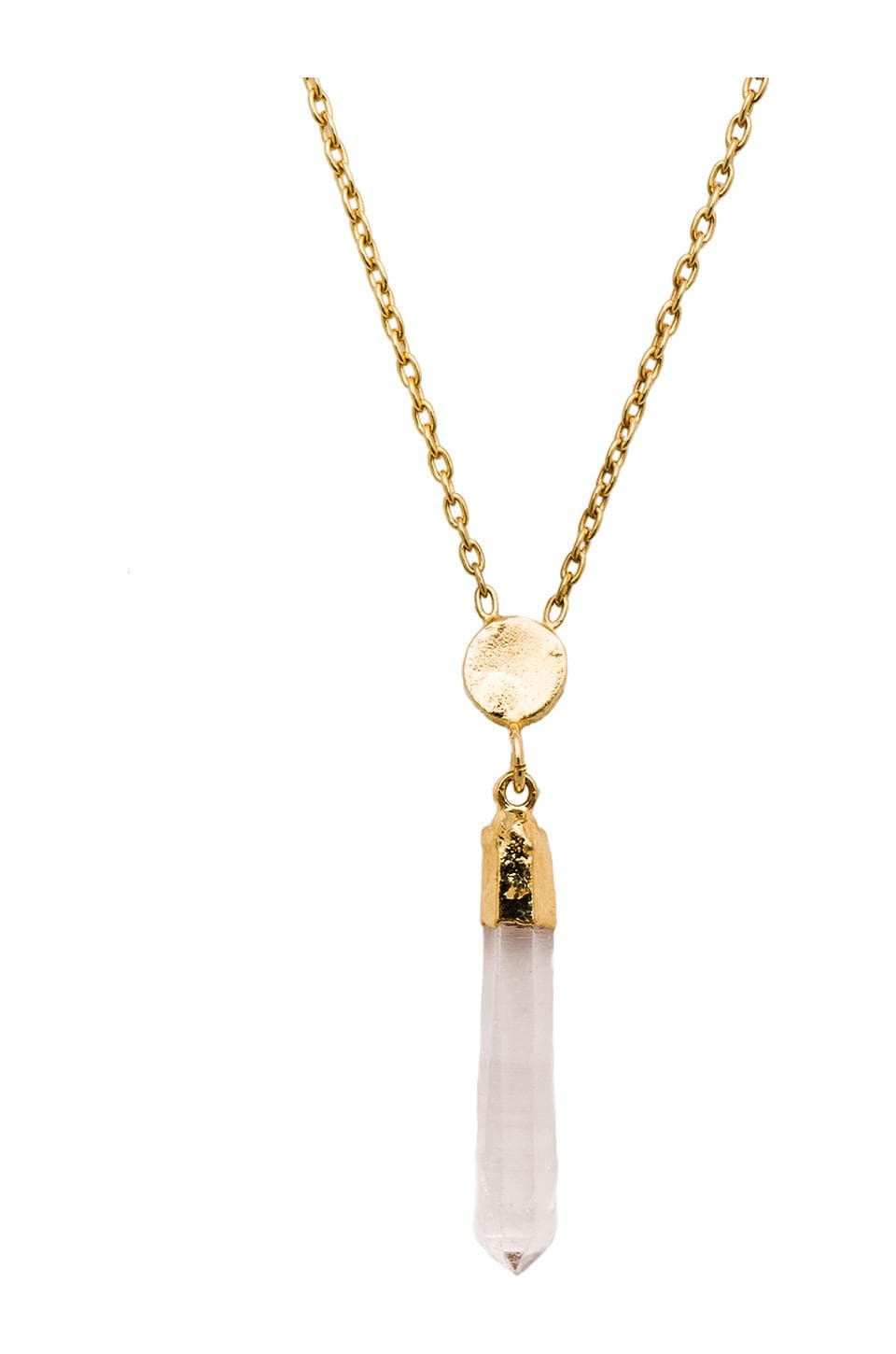 TORCHLIGHT Blue Moon Pendant in Rainbow Crystal & Gold