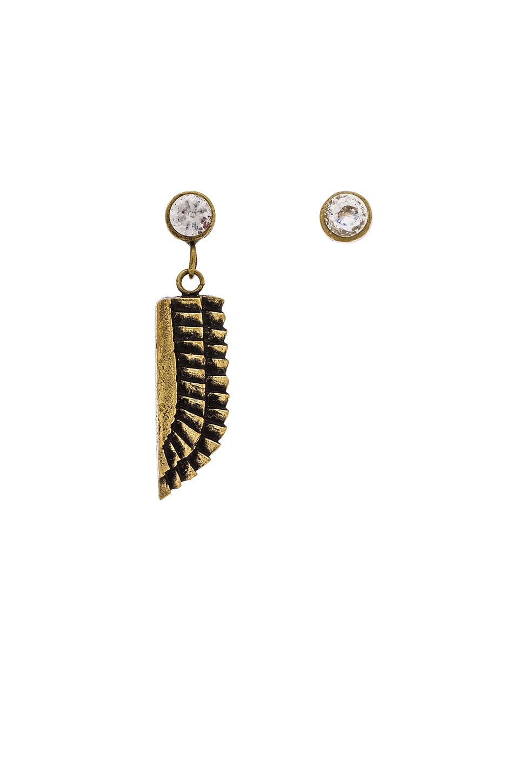 TORCHLIGHT Sky Goddess Earrings in Brass Ox