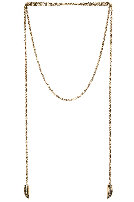TORCHLIGHT Sky Goddess Necklace in Brass Ox