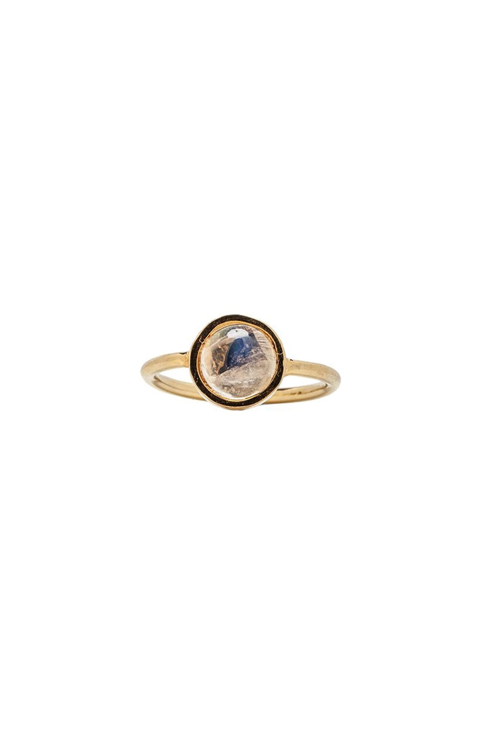 TORCHLIGHT Lunette Stacking Ring in Moonstone and Gold